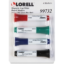Lorell Magnetic Cap Whiteboard Markers, LLR99732