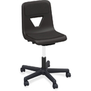 Lorell Classroom Adjustable Height Padded Mobile Task Chair, LLR99913