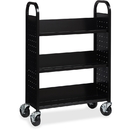 Lorell Single-sided Steel Book Cart, LLR99933