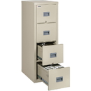 Lorell White Vertical Fireproof File Cabinet, LLRL4P2131-CPA