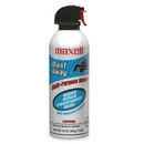 Maxell Blast Away Canned Air (Single Can), 10 fl oz - Non-flammable - Blue, White