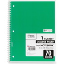 Mead 1-Subject Wirebound Ruled Notebook