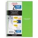 Mead Five Star 2-Subject Notebook, 100 Sheet - College Ruled - 9.50