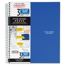 Mead Five Star 3-Subject Notebook, 150 Sheet - College Ruled - 11