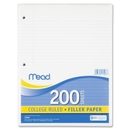 Mead Notebook Filler Paper, 200 Sheet - 16 lb - College Ruled - Letter 8.50