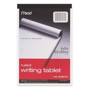 Mead Top-bound Writing Tablet, 100 Sheet - 20 lb - Ruled - 6