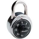 Master Lock Combination Padlock, 3 Digit - Steel Body, Steel Shackle - Silver