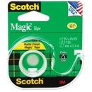 Scotch Magic Tape with Handheld Dispenser, 0.50