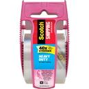 Scotch Shipping Packaging Tape- Pink Dispenser, MMM142PC