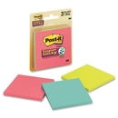 Post-it 3x3 Super Sticky Jewel Pop Coll. Notes, Self-adhesive - 3