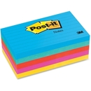 Post-it Lined Notes in Ultra Colors, Self-adhesive, Repositionable - 3