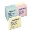 Highland Self-Sticking Note, Self-adhesive, Repositionable, Removable - 3