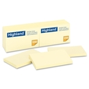 Highland Self-Sticking Note, Self-adhesive, Repositionable - 3