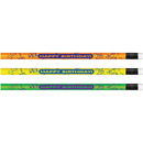 Moon Products Happy Birthday Neon Themed Pencils