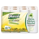 Marcal Small Steps Recycled Premium Bath Tissue, 2 Ply - 168 Sheets/Roll - 16 / Carton - 4.20