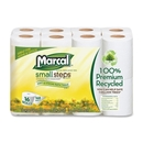 Marcal Small Steps Recycled Premium Bath Tissue, 2 Ply - 168 Sheets/Roll - 16 / Pack - 4.20