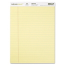 Nature Saver 100% Recycled Canary Legal Ruled Pads, 50 Sheet - 15 lb - Legal/Wide Ruled - 8.50