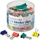 OIC Metal Mini Binder Clips, Mini - 1 / Pack - Assorted