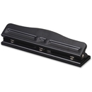 OIC Adjustable Three-Hole Punch, 3 Punch Head(s) - 11 Sheet Capacity - 9/32
