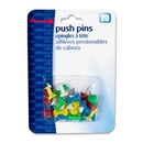 OIC Plastic Precision Push Pins, 0.50