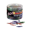 OIC Translucent Vinyl Paper Clips, No. 2 - 600 / Box - Blue, Purple, Green, Red, Silver
