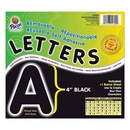 Pacon Self-Adhesive Removable Letters, 78 Character - x 4