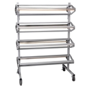 Pacon Horizontal Paper Rack, 8 Roll(s) - 1 Each - Gray