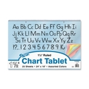 Pacon Colored Paper Chart Tablets, 1 Each, PAC74734