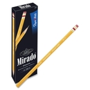 Paper Mate Mirado Classic Pencils with Eraser, #2 Pencil Grade - Yellow Barrel - 12 / Dozen