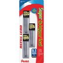 Pentel Super Hi-Polymer Lead Refill, 19.7 mil - Fine Point - HB - Black - 3 / Pack