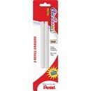 Pentel Clic Eraser Refill, Lead Pencil Eraser - Non-abrasive - 2/Pack - White