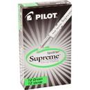 Pilot Spotliter Supreme Highlighter, Chisel Marker Point Style - Fluorescent Green Ink - White Barrel - 12 / Dozen