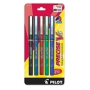 Pilot Precise V5 Rollerball Pen, Extra Fine Pen Point Type - 0.5 mm Pen Point Size - Assorted Ink - 5 / Pack