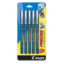 Pilot Precise V7 Rollerball Pen, Fine Pen Point Type - 0.7 mm Pen Point Size - Blue Ink - Blue Barrel - 5 / Pack