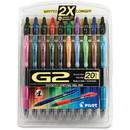 G2 Retractable Gel Ink Pens Assorted 20-Pack