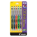 Pilot Precise P700 Gel Roller Pen, Fine Pen Point Type - 0.7 mm Pen Point Size - Assorted Ink - 5 / Pack