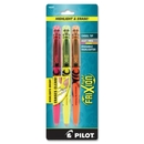 Pilot Frixion Highlighter, Chisel Marker Point Style - Assorted Ink - 3 / Pack