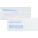 Quality Park Redi-Seal 2 Window Envelopes, Double Window - #8 5/8 (3.63