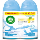 Air Wick Freshmatic Ultra Automatic Spray Refills with Essential Oils, RAC93045