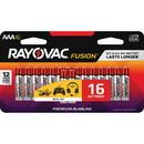 Rayovac Fusion Alkaline AAA Batteries, RAY82416LTFUSK