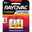 Rayovac Fusion Advanced Alkaline 9V Batteries, RAYA16042TFUSK