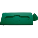 Rubbermaid Commercial Slim Jim Green Closed Lid Insert, RCP2007884