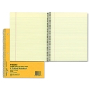 Rediform College Ruled Brown Board Cvr Notebook, 80 Sheet - 16 lb - College Ruled - 8.88