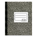 Rediform National Xtreme White Notebook, 80 Sheet - Wide Ruled - 7.87