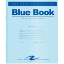 Roaring Spring Blue Exam/Testing Booklet, 16 Page - Wide Ruled - 7