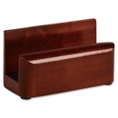 Rolodex Wood Tones Business Card Holder, Wood - 1 Each - Mahogany
