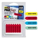 Redi-Tag Sign Here Mini Arrows, Removable, Self-adhesive - 1.25