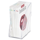 Rubbermaid Deluxe Magazine File, Clear - Plastic - 1 Each