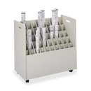 Safco 50 Compartments Mobile Roll Files, 50 Roll(s) - 1 Each - Putty