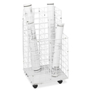 Safco 4 Compartments Wire Storage File, 4 Roll(s) - 1 Each - White